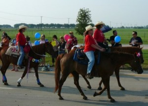 TTPA horses in Parker Parade
