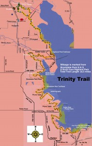 of 25.5 mile Trinity Trail by Lake Lavon northeast of Dallas