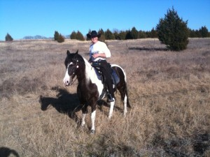 TTPA Member Tom Pollard rides his horse Valle on Trinity Trail